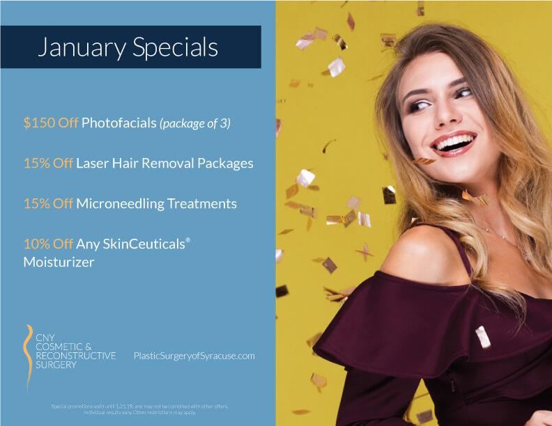 CNY Cosmetic Reconstructive Surgery January Specials 2019