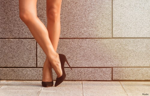 Hair free legs after laser hair removal
