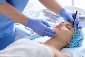 woman undergoing plastic surgery