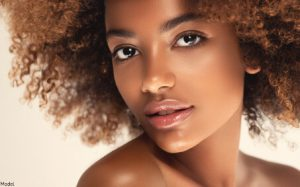 Woman with smooth & brighter skin